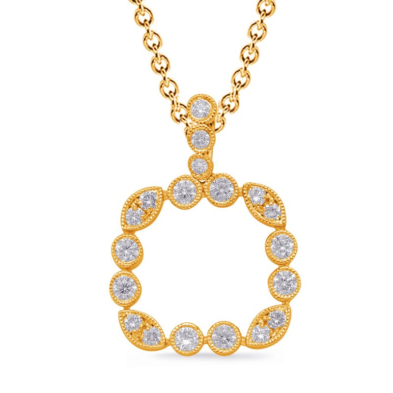 S. Kashi  & Sons Yellow Gold Diamond Pendant