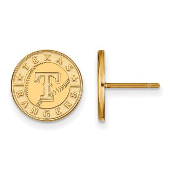 Gold-Plated Sterling Silver Texas Rangers MLB Earrings