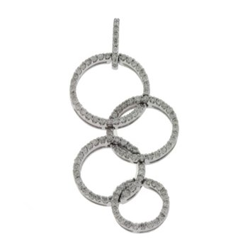 White Gold Diamond Circle