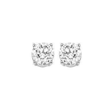 Diamond Stud Earrings in 14K White Gold (1/3 ct. tw.) I2/I3 - H/K