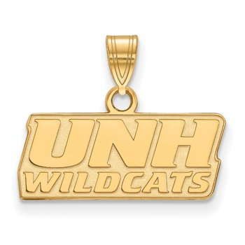 Gold-Plated Sterling Silver University of New Hampshire NCAA Pendant