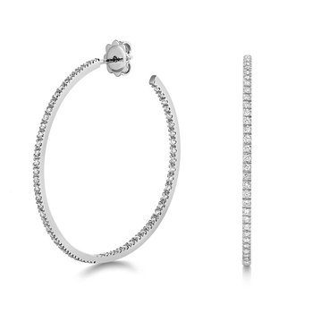 Diamond Hoops 40mm