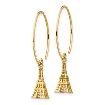 14K Eiffel Tower Dangle Earrings