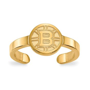 Gold-Plated Sterling Silver Boston Bruins NHL Ring