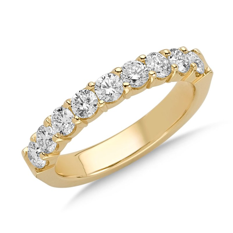 Prong set Round Diamond Wedding Band 14k Yellow Gold (1/4ct. tw.)