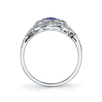MARS 25211 Diamond Engagement Ring 0.37 Ct Rd, 0.15 Ct Pr.