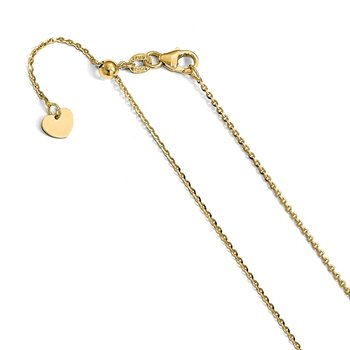 Leslie's 14K Adjustable 1.15mm D/C Rolo Chain