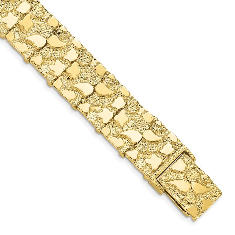Quality Gold 10k 15.0mm NUGGET Bracelet