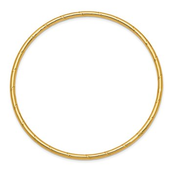14k 2.5mm Grooved Slip-on Bangle