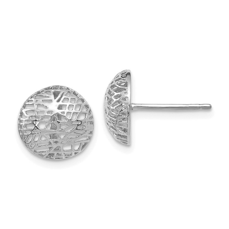 Leslie's Leslie's 14K White Gold Textured Post Earrings