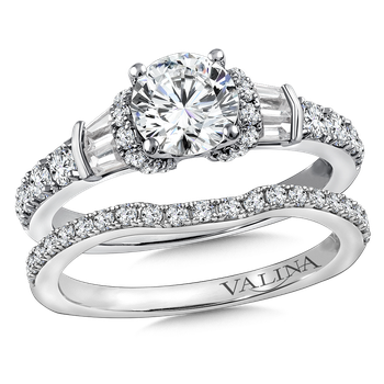 Diamond Engagement Ring Mounting in 14K White Gold (.64 ct. tw.)