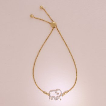 Elephant Mom Gold Bracelet