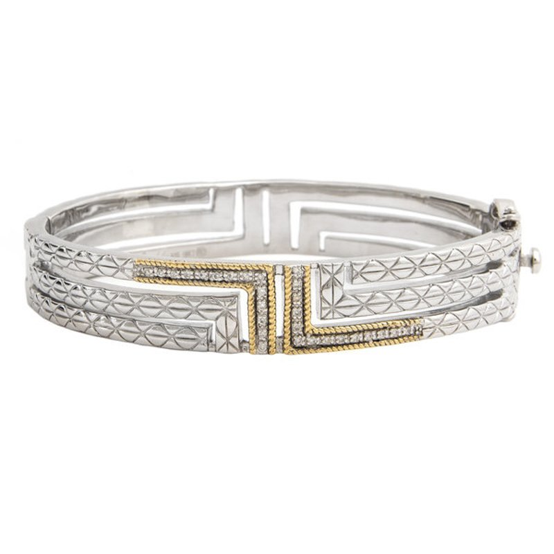 Andrea Candela 18KT & STERLING SILVER DIAMOND BANGLE