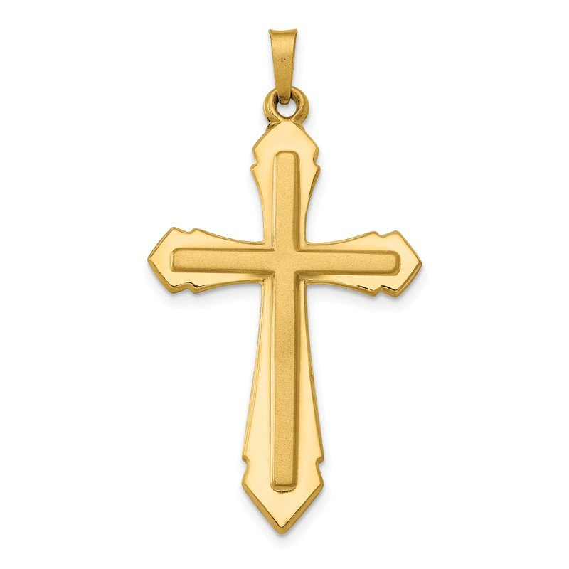 JC Sipe Essentials 14k Polished and Satin Passion Cross Pendant