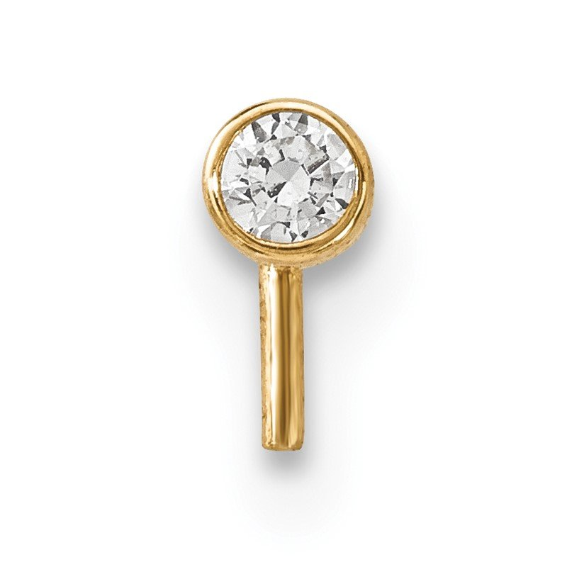 Quality Gold 14k 2.5mm CZ Nose Stud