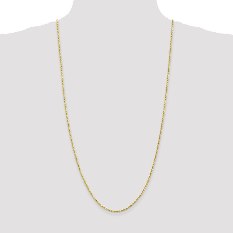 Leslie's Leslie's 10K 2.25mm Diamond-Cut Rope Chain