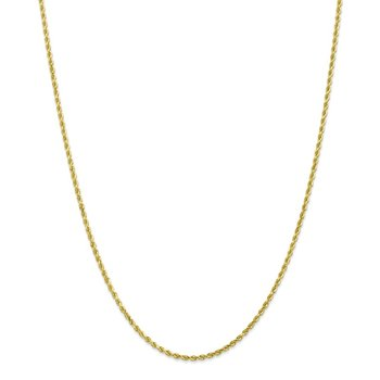 Leslie's 10K 2.25mm Diamond-Cut Rope Chain