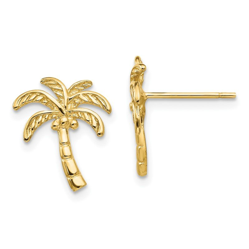 Quality Gold 14k Palm Tree Post Earrings