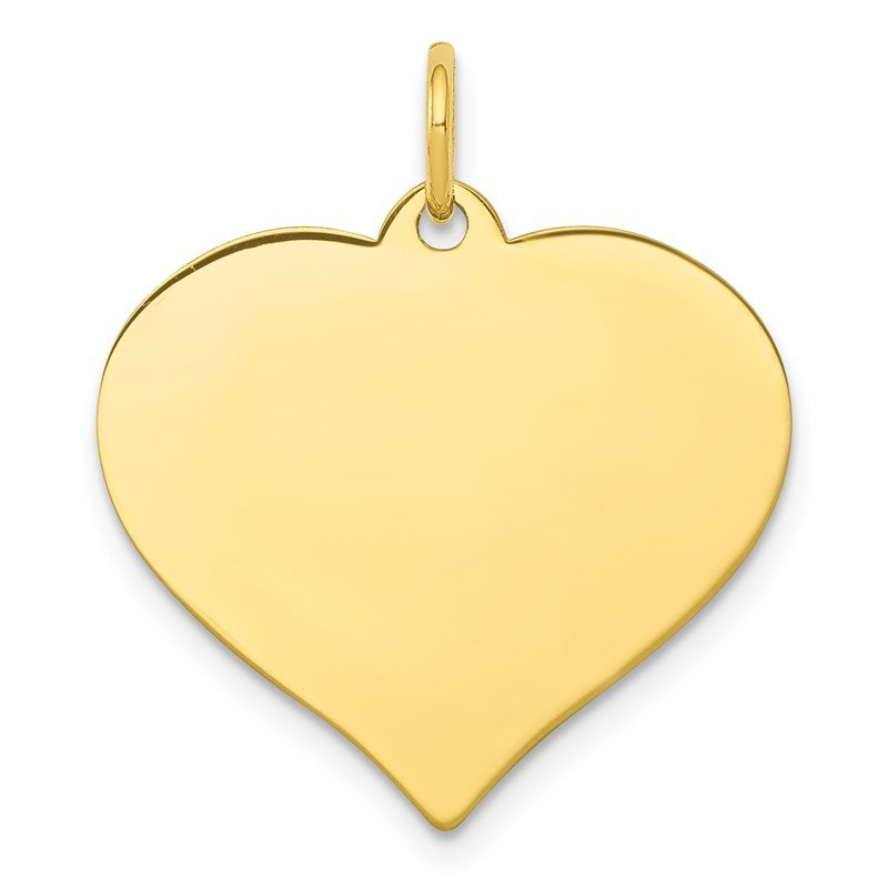 Quality Gold 10k .013 Gauge Heart Disc Charm