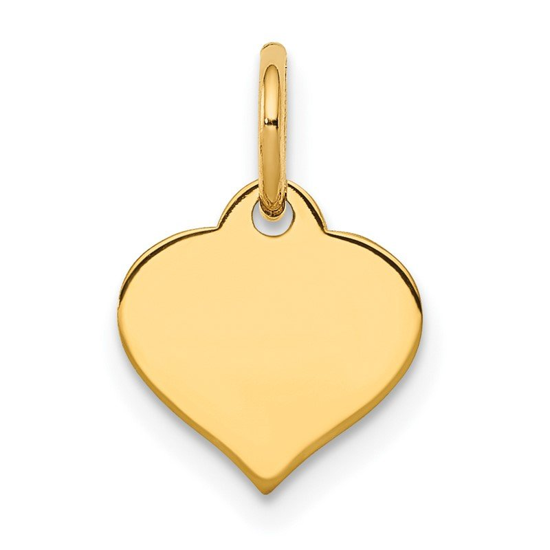 Quality Gold 14K Heart Disc Charm
