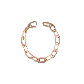 18KT GOLD OVAL LINK NECKLACE