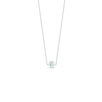 18Kt Gold Single Station Diamond Necklace