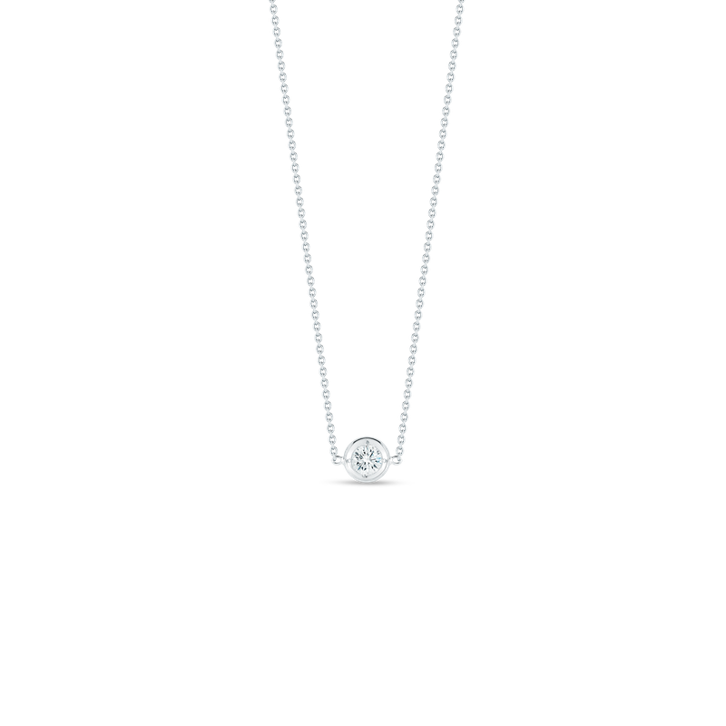 Roberto Coin 18KT GOLD SINGLE STATION DIAMOND NECKLACE