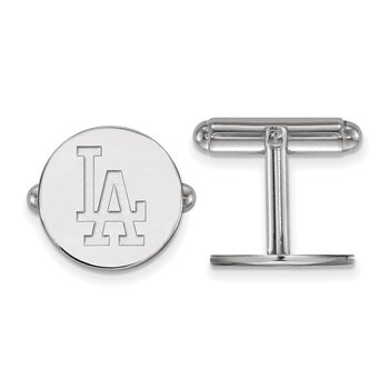 Sterling Silver Los Angeles Dodgers MLB Cuff Links