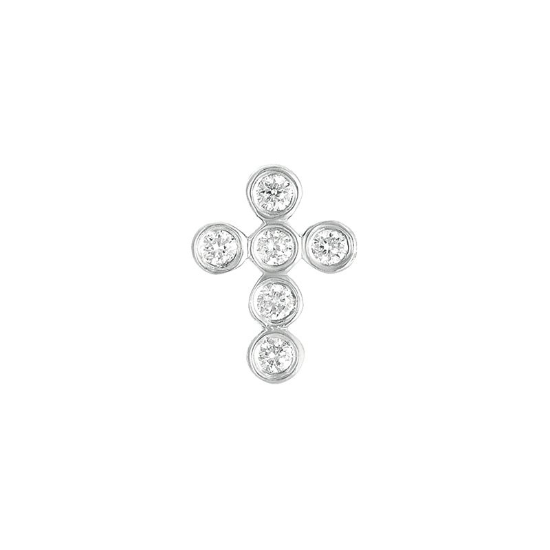 Briana Diamond Cross Pendant 13mm