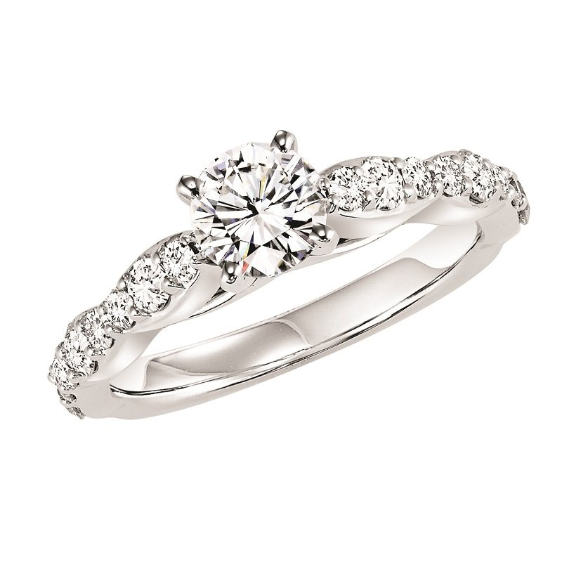 Bridal Bells 14K Diamond Engagement Ring 5/8 ctw