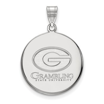 Sterling Silver Grambling State University NCAA Pendant