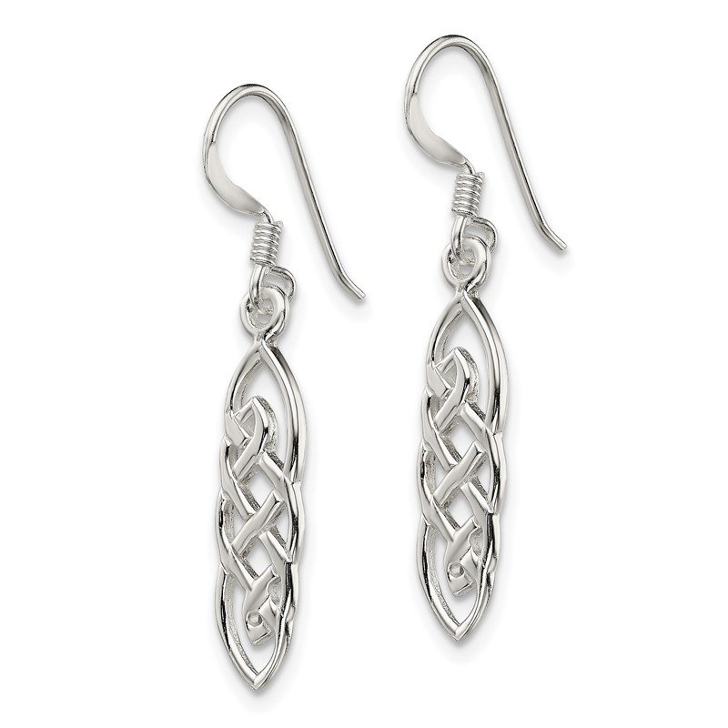 Quality Gold Sterling Silver Celtic Design Dangle Earrings