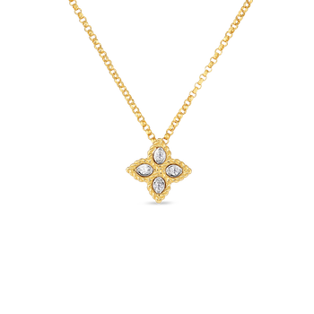 Small Pendant With Diamonds &Ndash; 18K Yellow Gold