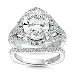 Caro74 Floral halo 1.10 ct. tw., 11 x 9 mm oval center approx . 4.0 ct. center.