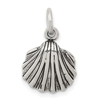 Sterling Silver Antiqued Seashell Charm