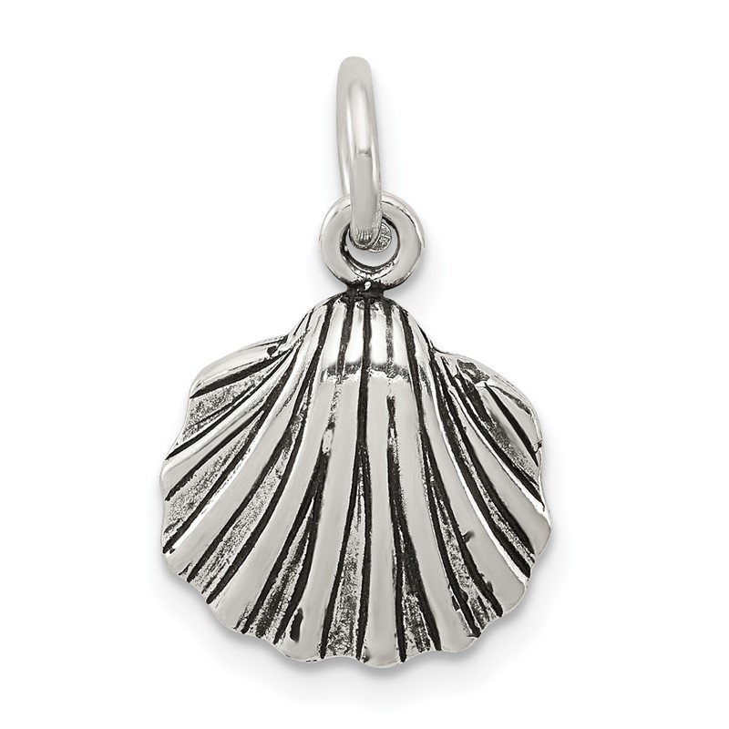 Quality Gold Sterling Silver Antiqued Seashell Charm
