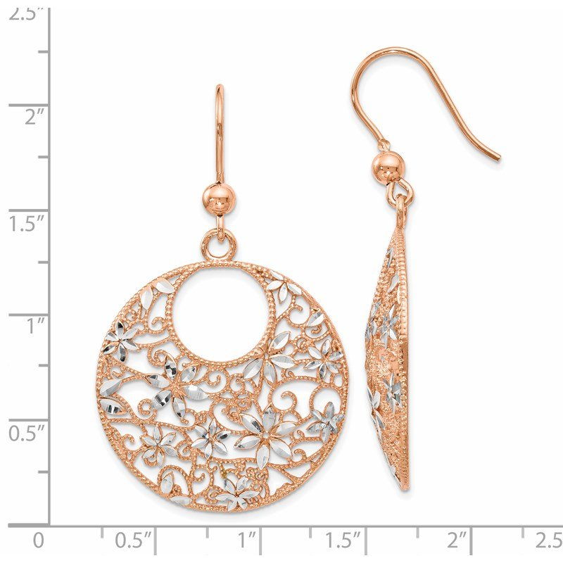 Leslie's Leslie's Sterling Silver Rose-tone 18K Flash-plated Earrings