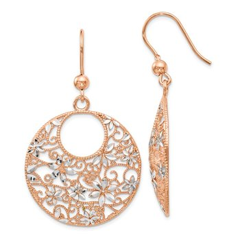 Leslie's Sterling Silver Rose-tone 18K Flash-plated Earrings