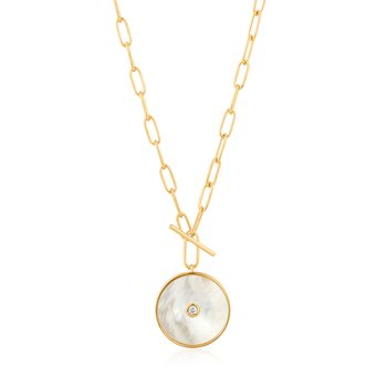 Mother Of Pearl T-Bar Necklace