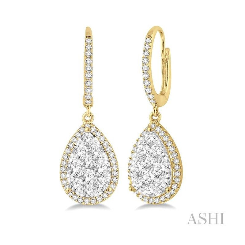 Barclay's Signature Collection pear shape lovebright essential diamond earrings