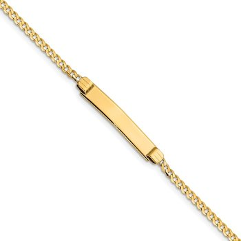 14k 6 Curb Link Child ID Bracelet