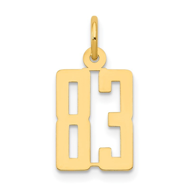 Quality Gold 14k Small Polished Elongated 83 Charm