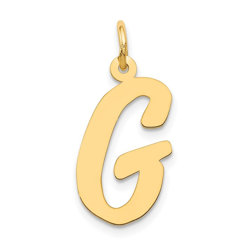 Quality Gold 14k Large Script Letter G Initial Charm
