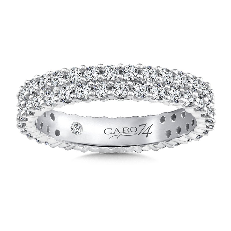 Caro74 Eternity Band (Size 6.5) in 14K White Gold (1.24ct. tw.)