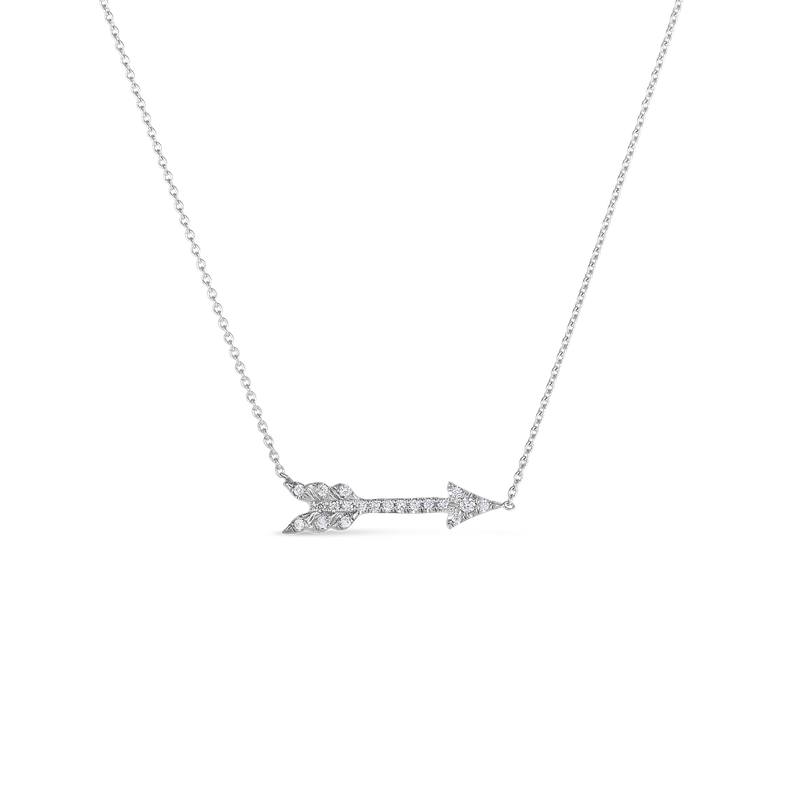Roberto Coin 18Kt Arrow Necklace With Diamonds