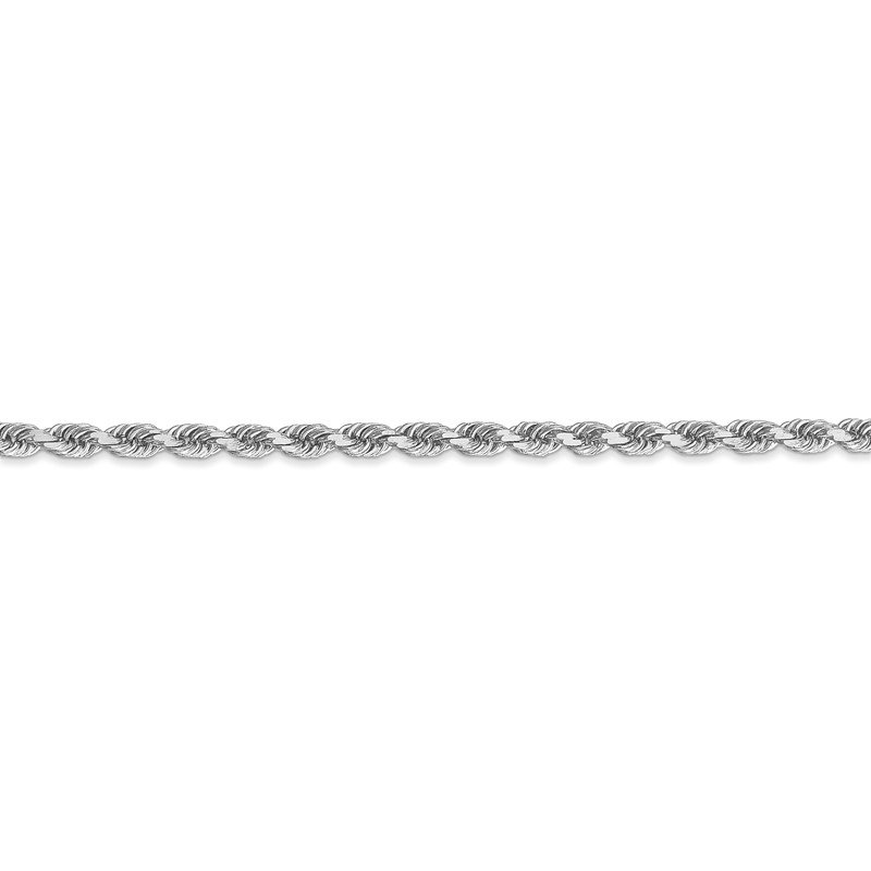Quality Gold 14k White Gold 3mm D/C Rope with Lobster Clasp Chain