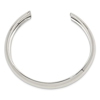 Sterling Silver 9mm Cuff Bangle