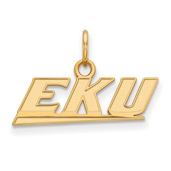 Gold-Plated Sterling Silver Eastern Kentucky University NCAA Pendant