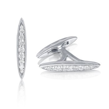 Marquise Cuff Links featuring Diamonds