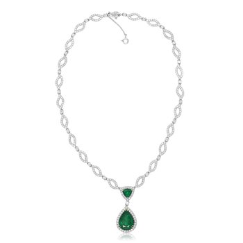 Ornate Pear-shaped Emerald Necklace